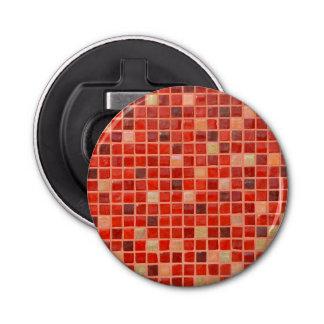 Red Mosaic Tile Background Bottle Opener