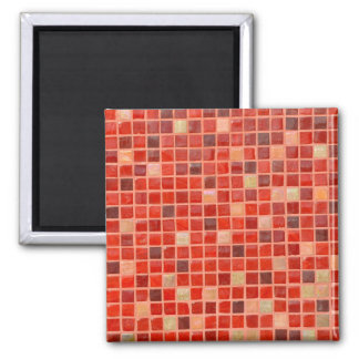 Red Mosaic Tile Background Magnet