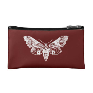 Red Moth Cosmetic Bag