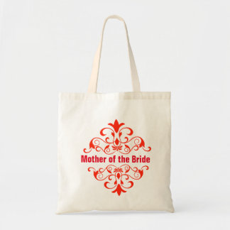 Red Mother of the Bride Wedding Tote Bag