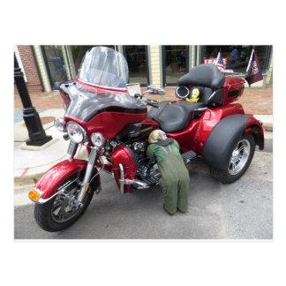 Red Motor Trike Postcard