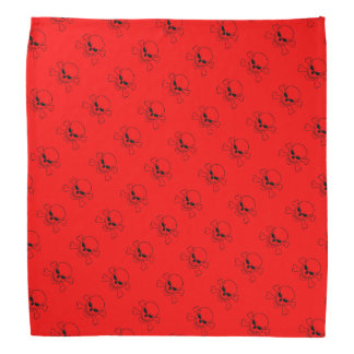 Red Motorcycle Skull and Crossbones Biker Bandanna