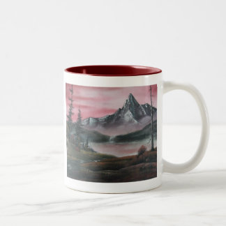 Red Mountain Lake Left/Right Sided Mug