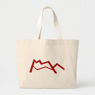 Red Mountain Range Icon Jumbo Tote Bag