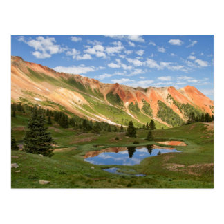 Red Mountain Reflection Postcard