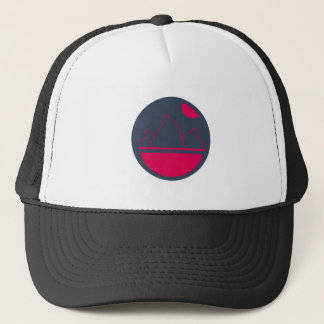 Red Mountains and Sunset Trucker Hat
