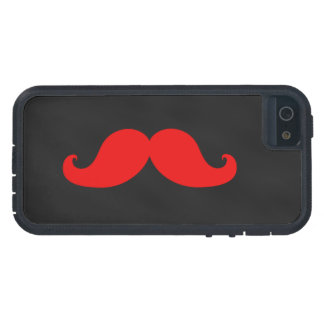 Red Moustache on Black Chalkboard iPhone 5 Case