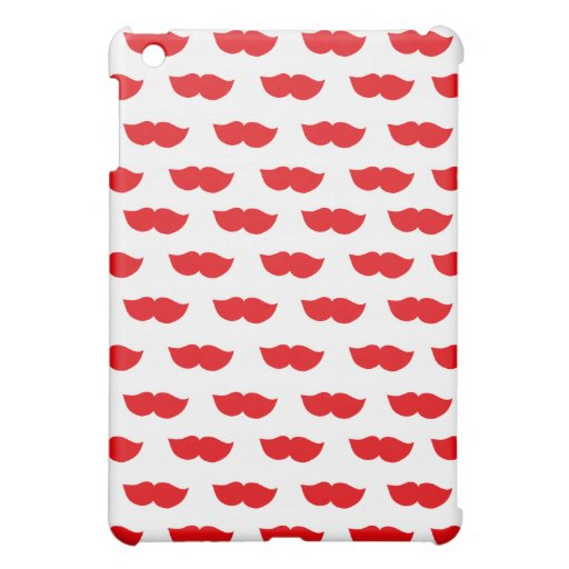 Red Moustaches iPad Mini Cases
