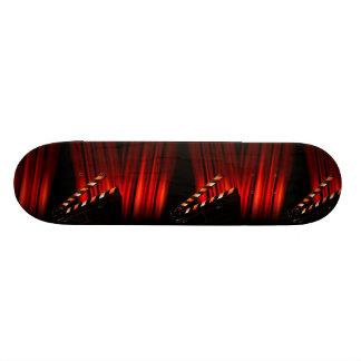 Red Movie Curtain Clapboard Director Custom Skate Board