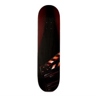 Red Movie Curtain Clapboard Director Skateboards