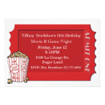 Red Movie Ticket Party Invitation