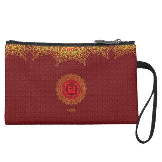Red Muladhara, 1st (Root) Chakra Bag Wristlet Clutch