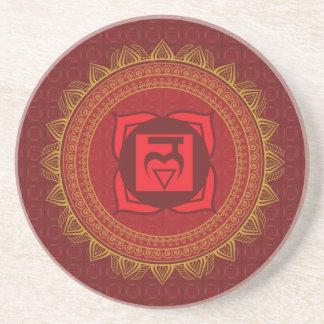 Red Muladhara, 1st (Root) Chakra Coaster