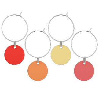 Red multicolor wine charms