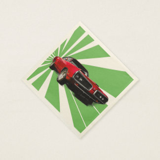 Red Muscle Car Disposable Napkin