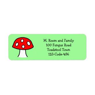 Red Mushroom Address Labels