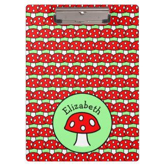 Red Mushroom Clipboard