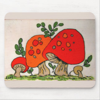 Red Mushrooms ~ mousepad