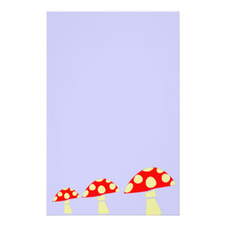 Red Mushrooms Stationery Paper