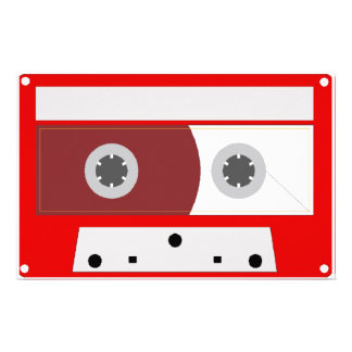 Red Music Cassette Tape Set Customized Stationery