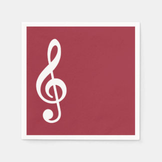 Red Music Recital Party Napkins Disposable Napkins
