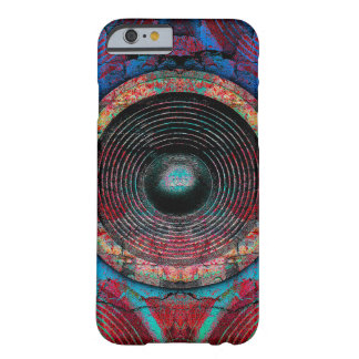 Red music speakers on a cracked wall barely there iPhone 6 case