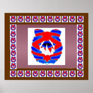 Red n Blue Diamond Wreath : ENJOY n share JOY Print