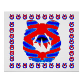 Red n Blue Diamond Wreath : ENJOY n share JOY Poster