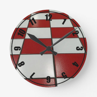 Red N White Vintage Clock