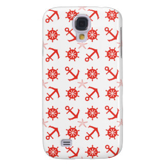Red nautical pattern galaxy s4 covers