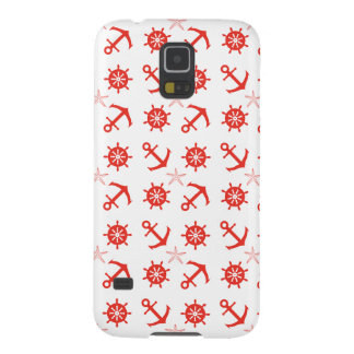 Red nautical pattern galaxy s5 cover