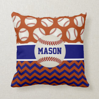 Red Navy Blue Baseball Cushion