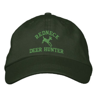 Red neck deer hunting embroidered hat