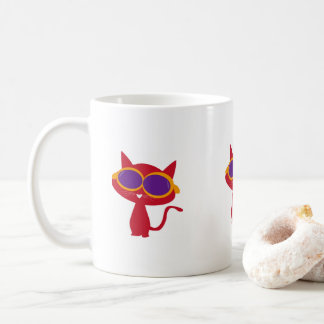 Red Neco(Cat) with Sun glass! Coffee Mug
