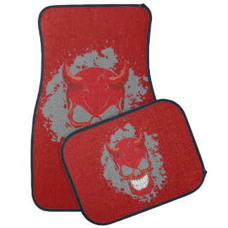 Red Neon Demon Car Mat