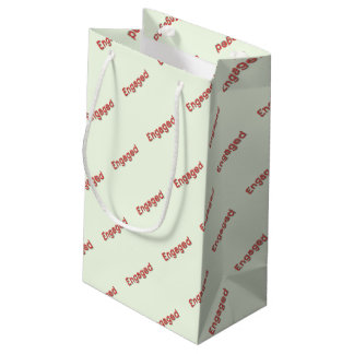 Red Neon ENGAGED Small Gift Bag