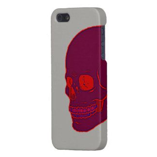 Red neon Skull Case For iPhone 5/5S