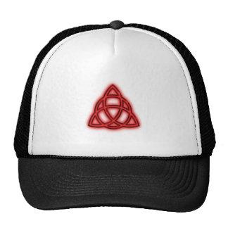 Red Neon Triquetra Cap
