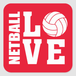 Red Netball Love Stickers