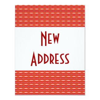 Red New Address 11 Cm X 14 Cm Invitation Card