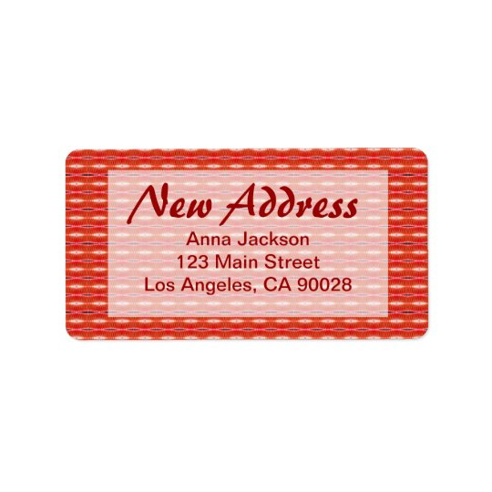 Red New Address Address Label
