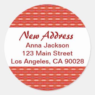 Red New Address Classic Round Sticker
