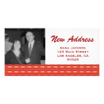 Red New Address Picture Card
