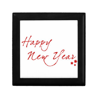 Red New-Year #2 Small Square Gift Box