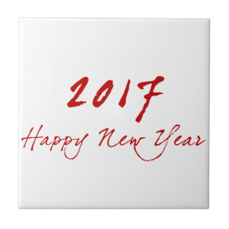 Red New-Year Ceramic Tile