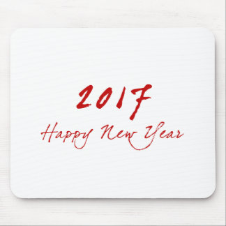 Red New-Year Mouse Pad