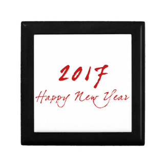 Red New-Year Small Square Gift Box