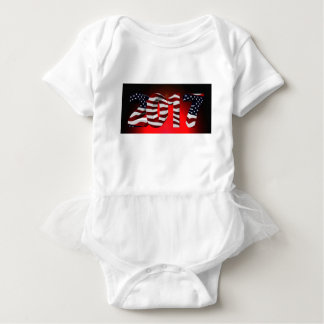 Red New-Years-Day Baby Bodysuit