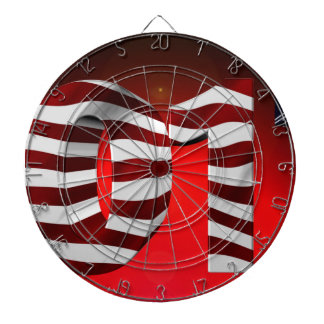 Red New-Years-Day Dart Board
