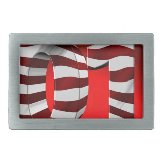 Red New-Years-Day Rectangular Belt Buckle